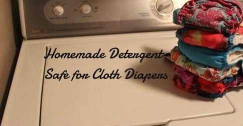Homemade Laundry Detergent Safe for Cloth Diapers