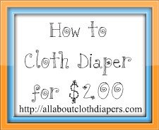 How to Cloth Diaper Your Baby For $200