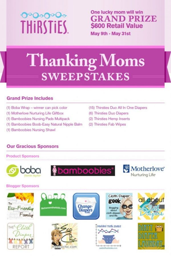 Thirsties Wants to Thank You With Gobs of Prizes!