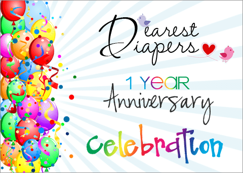 Dearest Diapers 1 Year Anniversary1