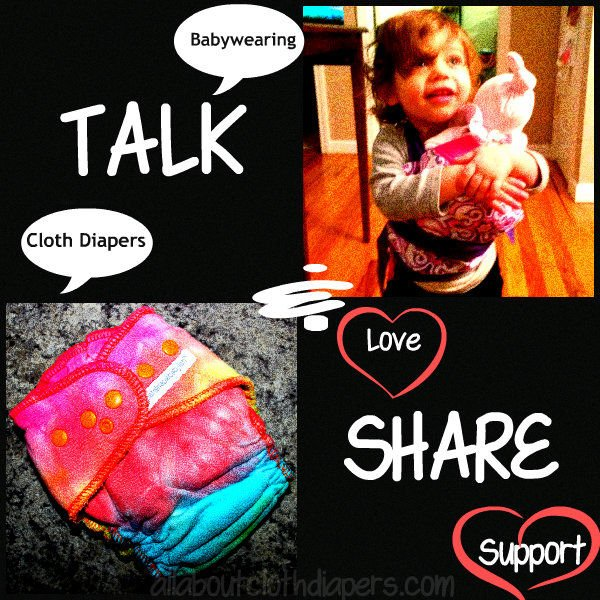 Help me spread the love of cloth diapers and babywearing