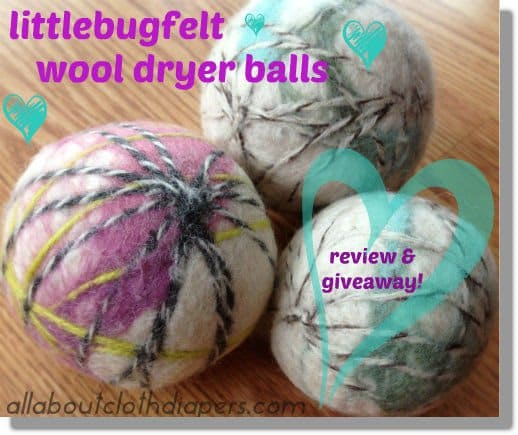 A review of my FAVORITE wool dryer balls: Littlebugfelt! {Plus giveaway}