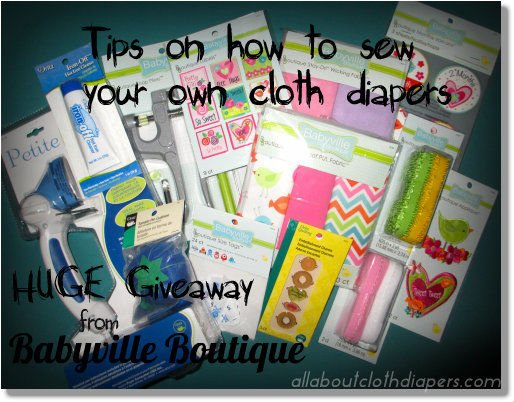A Few Tips on Sewing Your Own Cloth Diapers from Babyville Boutique