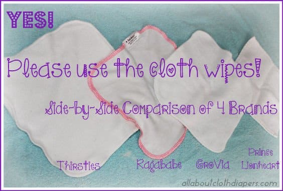 Cloth Wipes? Yes… You Should! Side-by-Side Comparison of 4 Brands