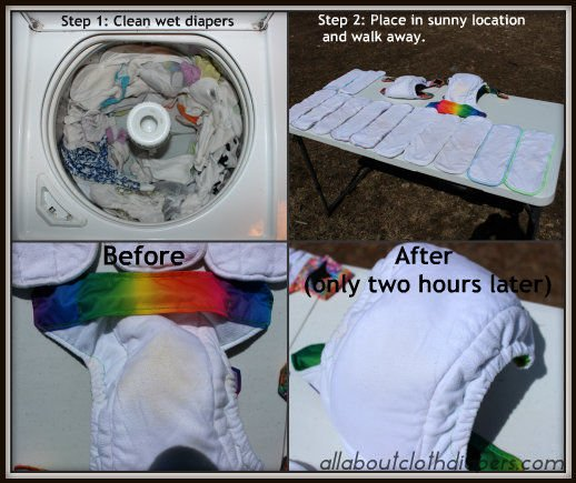 How To Remove Just About Any Stain From a Cloth Diaper: a step-by