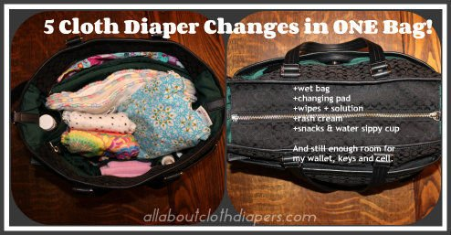 Packing a Diaper Bag When You Use Cloth Diapers…You Can Fit More Than You Think!