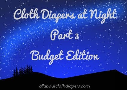 Cloth Diapers at Night Part 3: Budget Edition