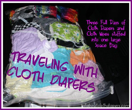 traveling with cloth diapers