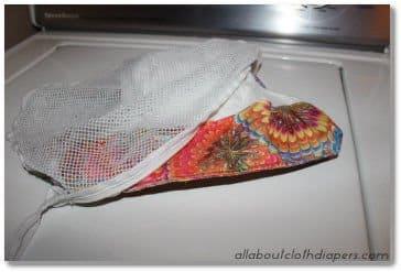 Cloth Diaper in Mesh Bag