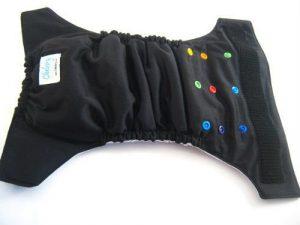 Black Chelory Cloth Diaper