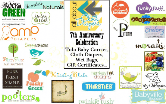 AACD 7th Anniversary Celebration! Join the Party and Win a Tula and Cloth Diapers Galore!