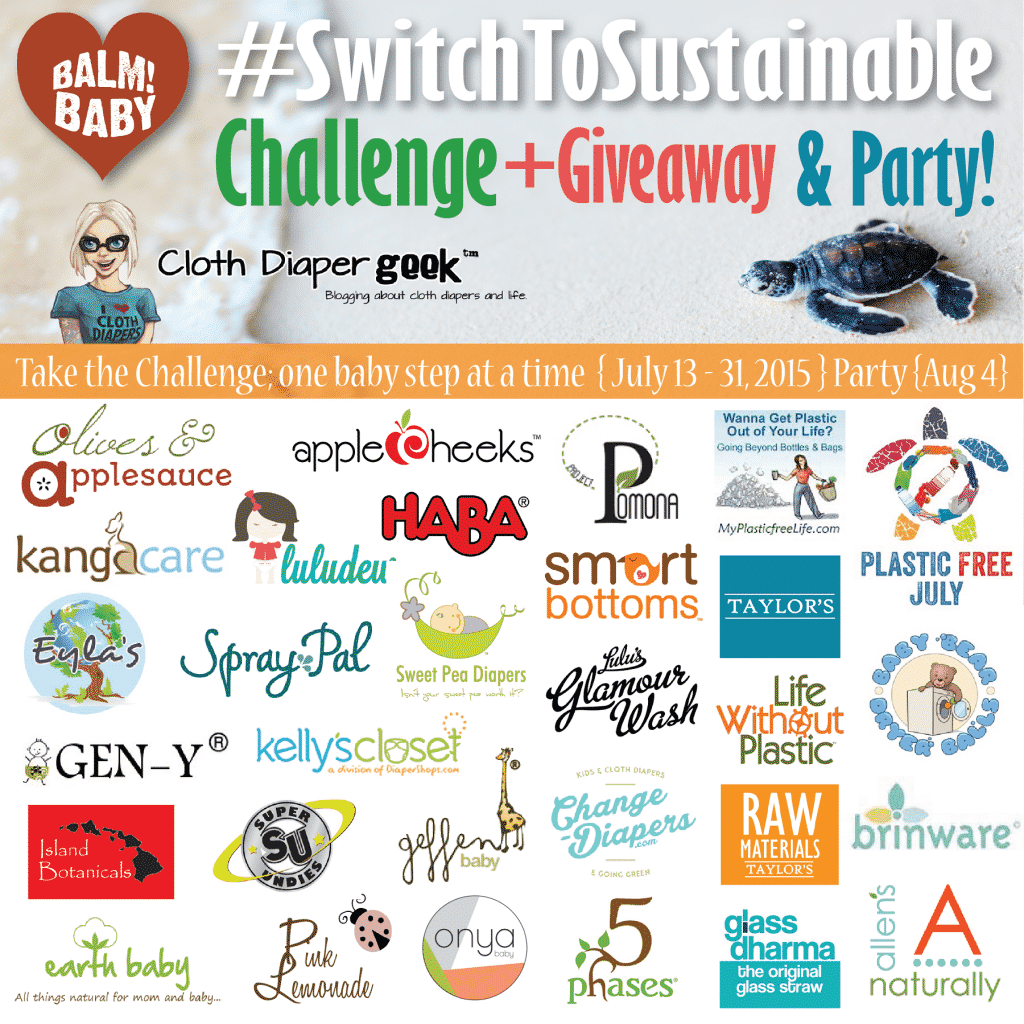 #SwitchToSustainable! Challenge, Giveaway & Facebook Party