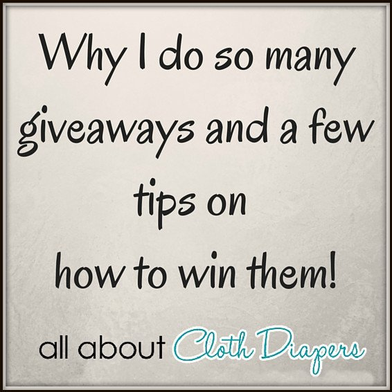 Why I do so many giveaways and a few tips on how to win!