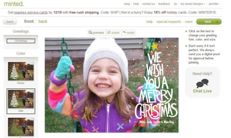 Does $250 for your last minute Christmas Cards sound good?