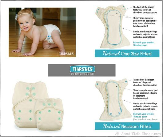 Say Hello to Thirsties New Natural Fitteds and Organic Cotton Doublers! Plus Giveaway!
