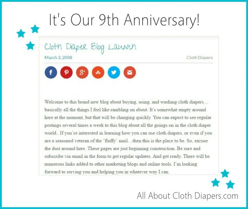 How can you talk about cloth diapers for NINE years!?