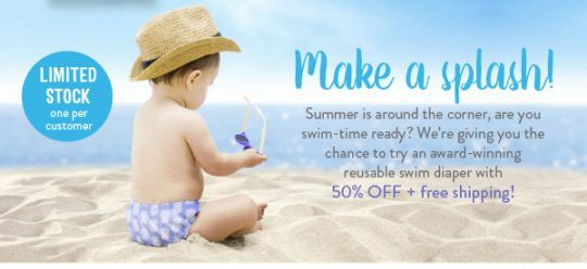 50% off and FREE SHIPPING! Try Bambino Mio's Swim Diaper Now!