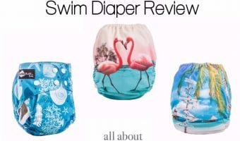 Funky Fluff Swim Diapers…the funkiest flamingo print in the bunch!