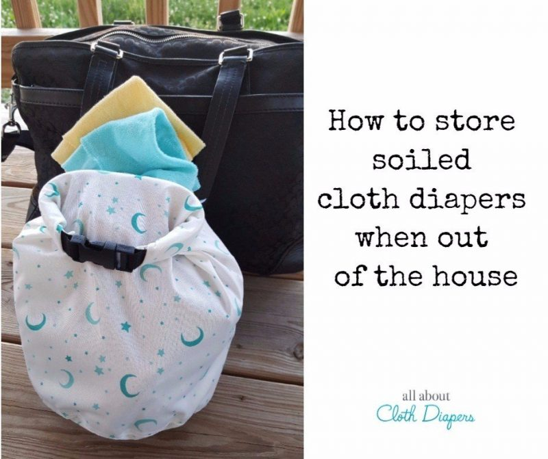 671f88161da6 How to store dirty cloth diapers when out of the house ~