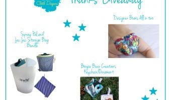 I have a cloth diaper, a Spray Pal, and a cloth diaper keychain to giveaway!