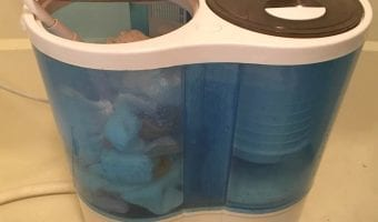 Washing Cloth Diapers in a Portable Washing Machine
