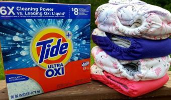Tide + Ultra Oxi Detergent and my Cloth Diapers!