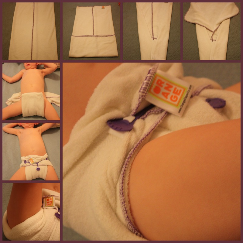 A Different Way to Fold Flat Cloth Diapers